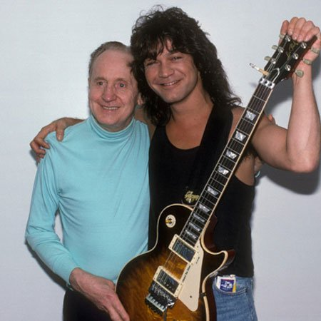 Eddie Van Halen and Les Paul