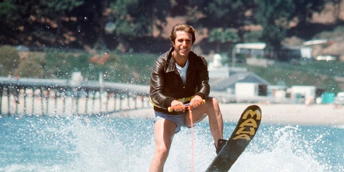 Fonzie Jumping the Shark on Happy Days