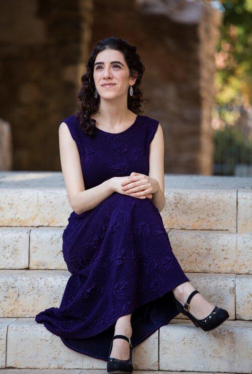 Adi Denner in Purple Dress